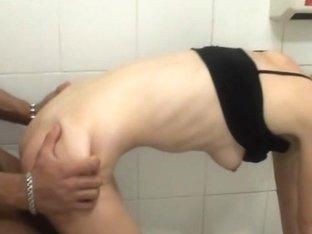 Dp public sex scene in the restroom