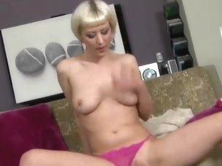 Blonde girl is taped in porn for the first time
