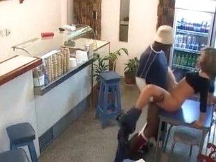 Interracial in ice cock juice parlor