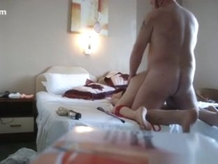 Mature woman gets masturbated with a vibrator and doggystyle fucked by her fat husband