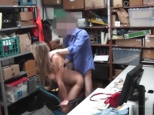 Big Tits Teen Suspected And Fucked By A Security Guard