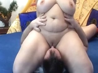 BBW mature face sitting hubby.