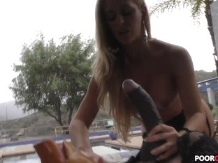 Cuckold watching his Hotwife Cherie DeVille having fun with a BBC