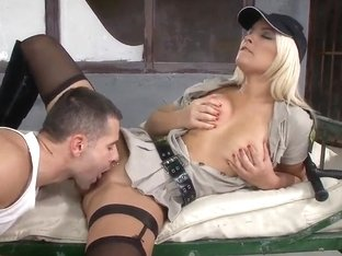 Strict sergeant Lana S fucks with the young boy
