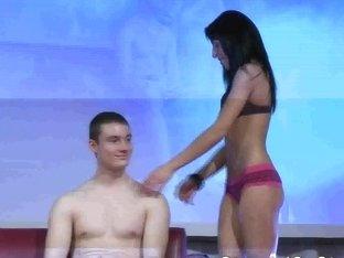scandal lapdance on public stage