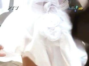 wedding dress upskirt sexy ass on the horny looking bride