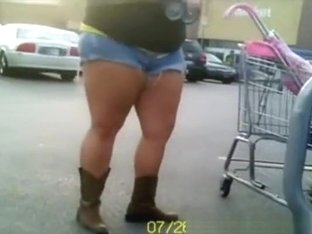 Chubby butts in public places