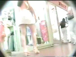 I filmed some nice asses upskirt at the shop