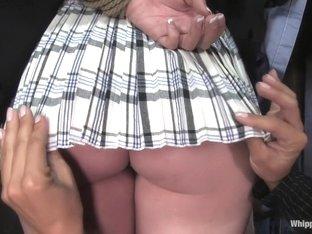 Hottest fetish sex clip with horny pornstars Sandra Romain and Alexa Von Tess from Whippedass