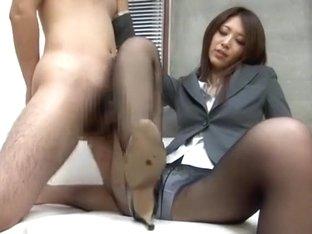 Incredible Japanese model Riko Miyase in Horny Fetish, Foot Job/Ashifechi JAV clip