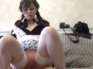 Sultry uniformed schoolgirl fucked in her wet sexy ass