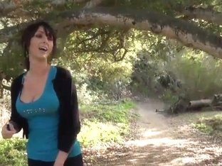 Milf sucks and fucks in the woods