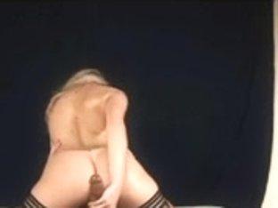 Slutty busty blonde enjoys two ramrods