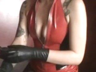 Dominant slut tortures her sissy slave