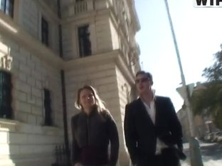 Hot Janet taking a walk over town with her handsome boyfriend