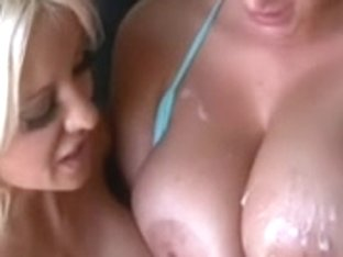 BBC stretching and Cumming on White Harlots Combo two