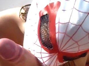 Girl in mask amateur porn blowjob
