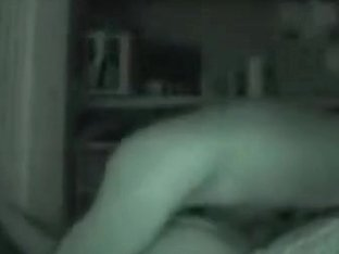 Amateur nightvision camera recording young couple fucking