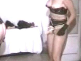 Disgusting domina tortures her slave