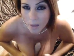 Busty Babe Titty Fucks with her Toy