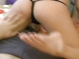 slutty non-professional in hot underware lap dance for her boyfriend and shows worthy titties