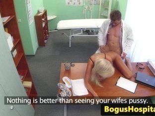 Amateur european pussyfucked in docs workplace