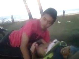 Malay couple outdoor sex