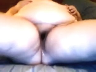 Old and sexually excited large pretty woman lady playing with a jock pump and sex-toy