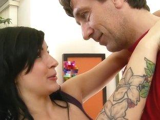 Horny pornstar Tori Lux in hottest tattoos, brunette sex scene