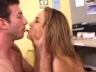 Frisky babe Kristina Rose humors her co-worker
