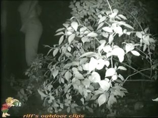Caught blonde girl pissing on hidden camera by the bushes