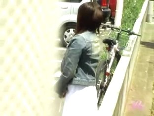 Red-hot Japanese slut loses her skirt when some fellow steals it