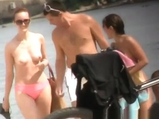 Small tits nudist and topless women