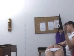 Teen booty spanking in a fetish video