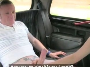 Couple getting naughty in the backseat with the driver