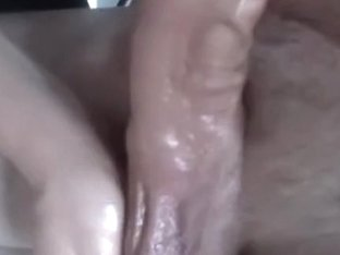 Giving my hubby an oily handjob