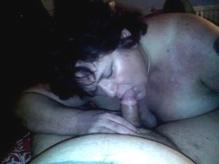Blowjob from my old fat slutty wife