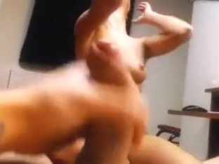 Cute girl rubs fingers pussy sucks cock gets fucked