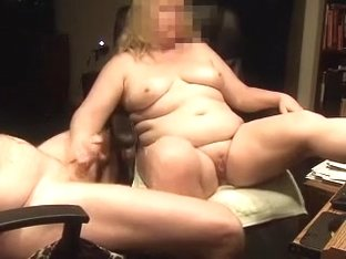 My obese aged golden-haired wife lending me a hand on webcam