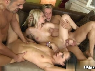 Horny pornstar Kylie Rock in Fabulous Group sex, European porn movie