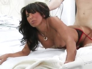 Busty nurse Lezley Zen meets young boyfriend Michael Vegas in the hospital