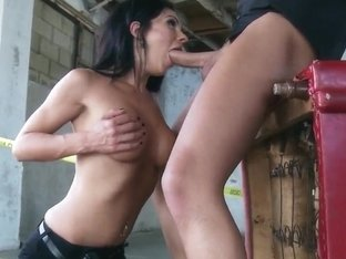 Keiran Lee and Kirsten Price in abandned house