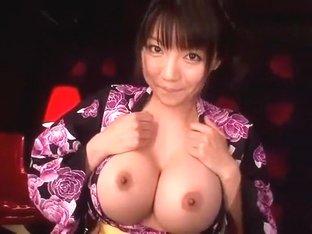 Best Japanese whore Yuuri Himeno in Crazy Big Tits JAV video