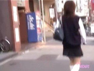 Tender Japanese schoolgirl in a nasty sharking video
