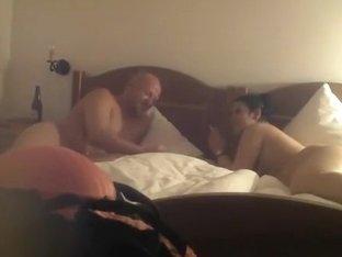 Chubby couple smoking and fucking