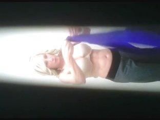 REAL Hidden Cam! Hot Blonde MILF Changing again