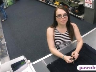 Babe pawns her vagina at the pawnshop to earn extra cash