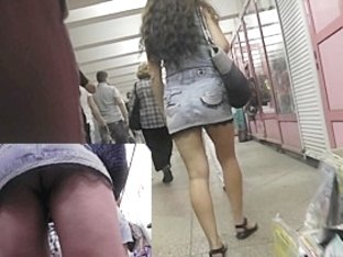Following a breathtaking upskirt beauty