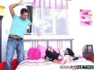Brunette teen slut Kylie Rose is horny for a big hard cock