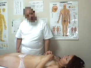 The voyeur medical exam of Asian pussy with dick and fingers